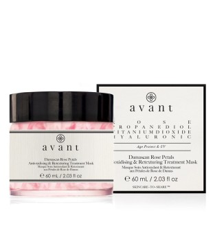 Avant Damascan Rose Petals Antioxidising & Retexturing Treatment Mask Gaivinamoji veido kaukė, 50ml | inbeauty.lt