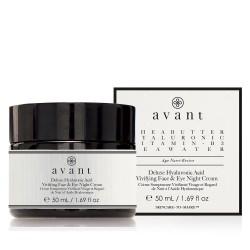 Deluxe Hyaluronic Acid Vivifying Face & Eye Night Cream Naktinis veido ir akių kremas su hiaurono rūgštimi, 50ml