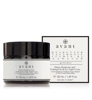 Avant Deluxe Hyaluronic Acid Vivifying Face & Eye Night Cream Naktinis veido ir akių kremas su hiaurono rūgštimi, 50ml | inbeauty.lt