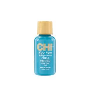CHI Aloe Vera Oil Garbanotų plaukų aliejus, 15ml | inbeauty.lt