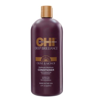 CHI Deep Brilliance Optimum Moisture Conditioner Kondicionierius su alyvuogių ir monoi aliejais, 946ml | inbeauty.lt