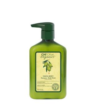 CHI Olive Organics Hair & Body Shampoo-Body Wash Šampūnas ir kūno prausiklis, 340ml | inbeauty.lt