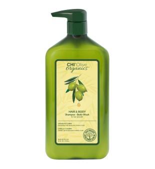 CHI Olive Organics Hair & Body Shampoo-Body Wash Šampūnas ir kūno prausiklis, 710ml | inbeauty.lt