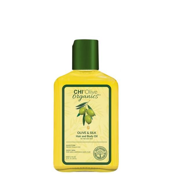 Olive Organics Olive & Silk Hair And Body Oil Aliejus plaukams ir kūnui, 251ml