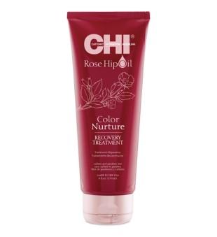 CHI Rose Hip Oil Color Nurture Recovery Treatment Atkuriamoji kaukė dažytiems plaukams, 237ml | inbeauty.lt