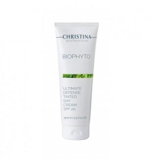 Christina Bio Phyto Ultimate Defence Day Cream SPF 20 Apsauginis dieninis veido kremas su tonu, 75ml | inbeauty.lt