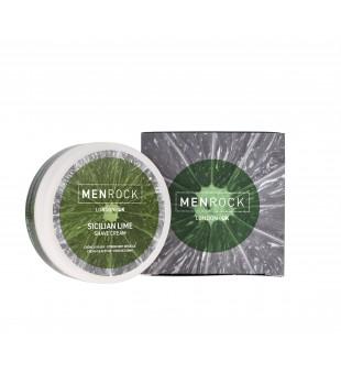Menrock Shaving Cream Sicilian Lime Sicilijos laimo aromato skutimosi kremas, 100 g | inbeauty.lt