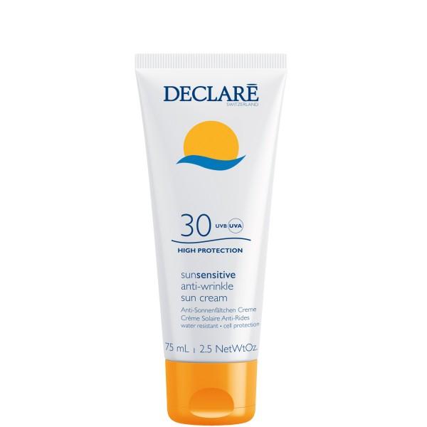 SunSensitive Anti-Wrinkle Sun Cream SPF30 Apsauginis veido kremas nuo saulės, 75ml