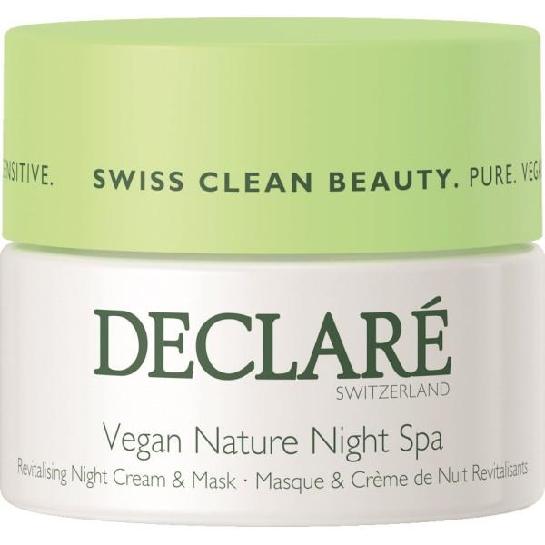 Vegan Nature Night Spa Naktinis veido kremas-kaukė, 50ml