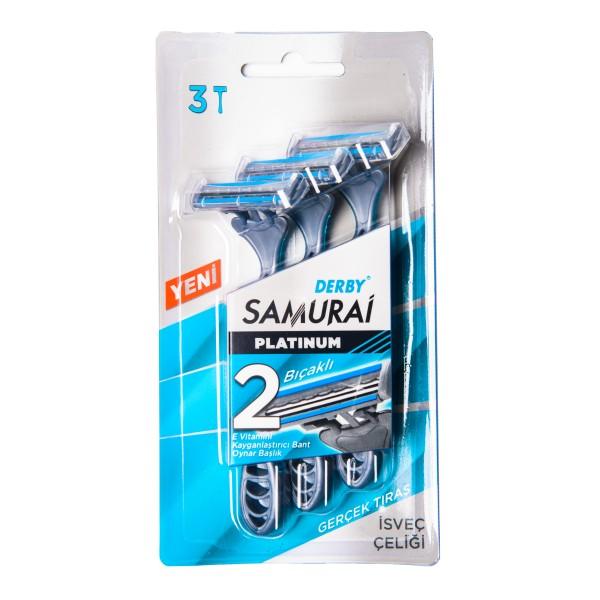 Samurai Platinum 2 Vienkartiniai skusutvai , 3 vnt.