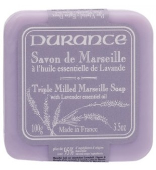 Durance Triple Milled Marseille Soap With Lavender Essential Oil Augalinis muilas su levandų aliejumi, 100g | inbeauty.lt