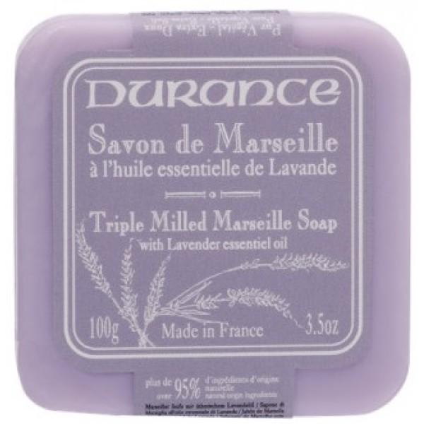 Triple Milled Marseille Soap With Lavender Essential Oil Augalinis muilas su levandų aliejumi, 100g
