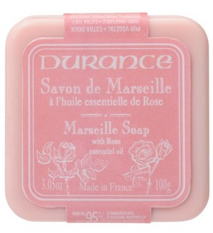 Durance Vegetable Soap With Rose Oil Augalinis muilas su rožių aliejumi, 100g | inbeauty.lt