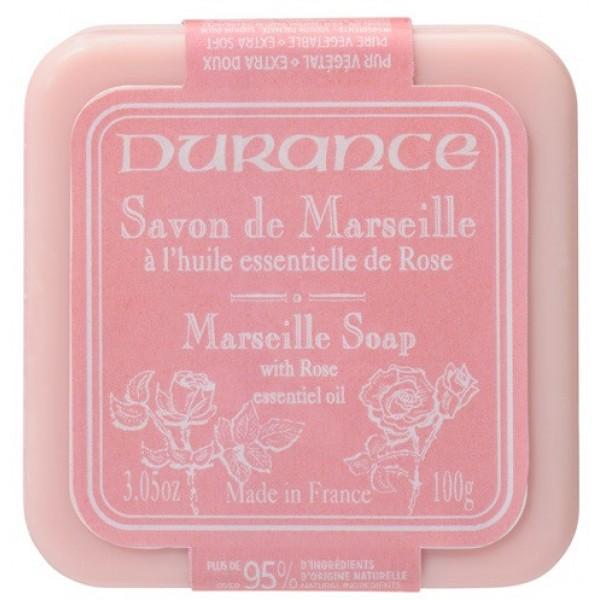 Marseille Soap With Rose Essential Oil Augalinis muilas su rožių aliejumi, 100g
