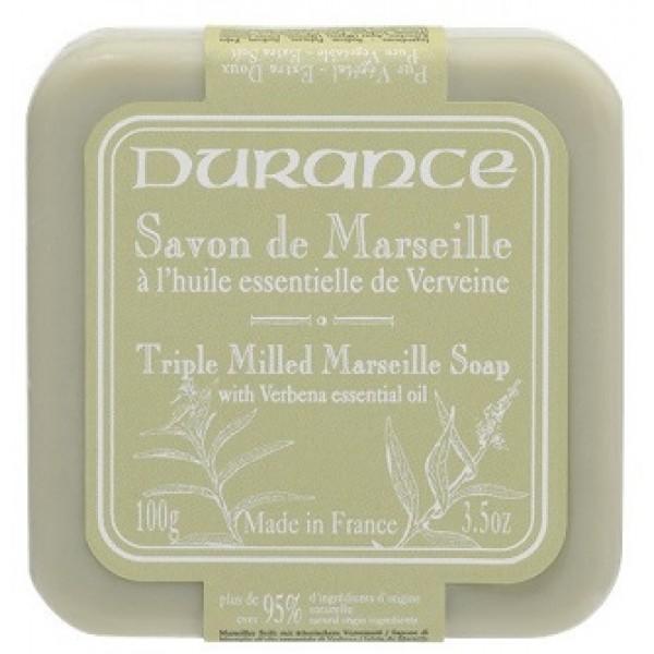 Triple Milled Marseille Soap With Verbena Essential Oil Augalinis muilas su verbenų aliejumi, 100g