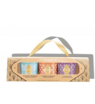 Durance Boxed Candle Set Kvapnių žvakių rinkinys, 3x75g | inbeauty.lt