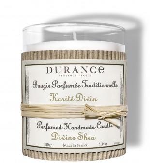 Durance Perfumed Handmade Candle Divine Shea Rankų darbo kvapni žvakė, 180g   inbeauty.lt