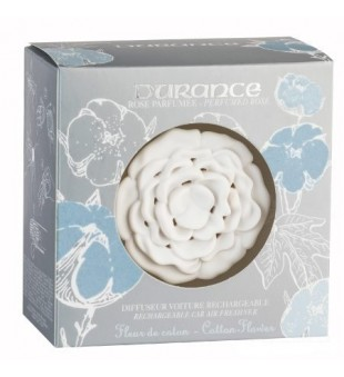 Durance Rechargeable Car Air Freshener Cotton Flower Kvapas automobiliui, 1 vnt. | inbeauty.lt