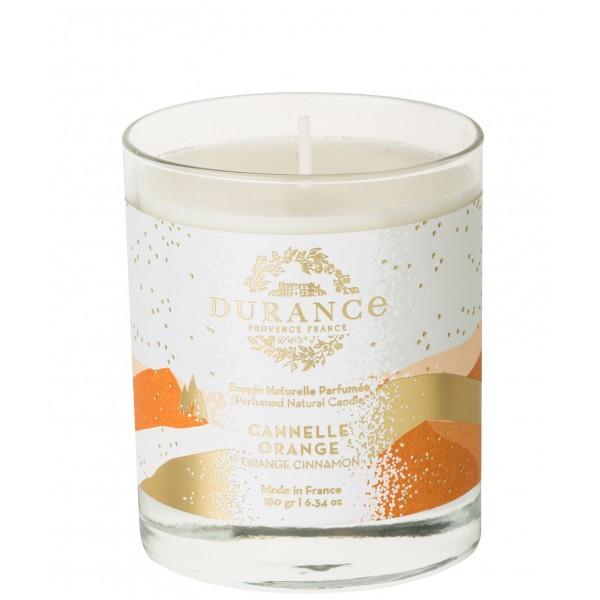 Perfumed Natural Candle Orange Cinnamon Rankų darbo kvapni žvakė, 180g