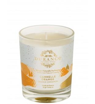 Durance Perfumed Natural Candle Orange Cinnamon Rankų darbo kvapni žvakė, 75g | inbeauty.lt