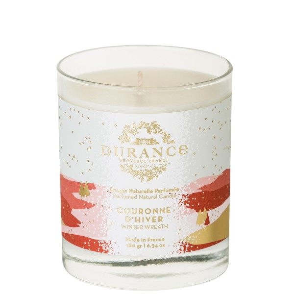 Perfumed Natural Candle Winter Wreath Rankų darbo kvapni žvakė, 180g