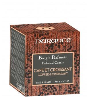 Durance Perfumed Candle Coffee & Croissant Rankų darbo kvapni žvakė, 190g   inbeauty.lt