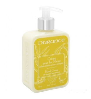 Durance Hand Cream With Lemon And Ginger Oil Rankų kremas su eteriniais citrinų ir imbierų aliejais, 300 ml | inbeauty.lt