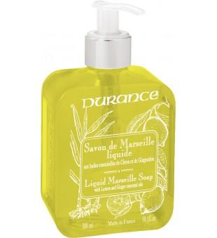 Durance Liquid Marseille Soap With Lemon And Ginger Oils Skystas muilas su eteriniais citrinų ir imbierų aliejais, 300 ml | inbeauty.lt
