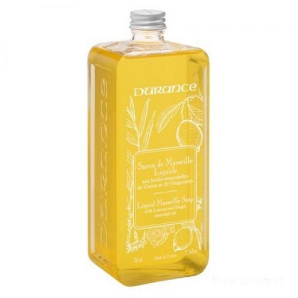 Liquid Marseille Soap With Lemon And Ginger Oils Skystas muilas su eteriniais citrinų ir imbierų aliejais, 750 ml