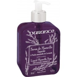 Liquid Marseille Soap With Lavender Essential Oil Skystas muilas su eteriniu levandų aliejumi, 300 ml