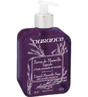 Durance Liquid Marseille Soap With Lavender Essential Oil Skystas muilas su eteriniu levandų aliejumi, 300 ml | inbeauty.lt