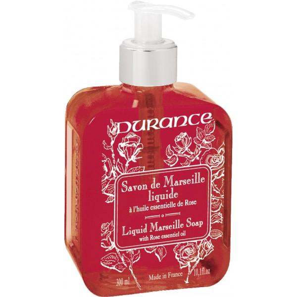 Liquid Marseille Soap With Rose Oil Skystas muilas su eteriniu rožių aliejumi, 300 ml