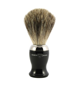 Edwin Jagger 81SB716CR Pure Badger Shaving Brush Skutimosi šepetėlis, 1 vnt. | inbeauty.lt