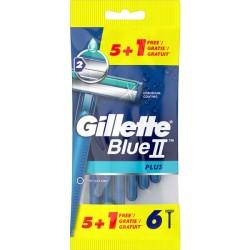 Blue II Plus Vienkartiniai skustuvai, 6vnt