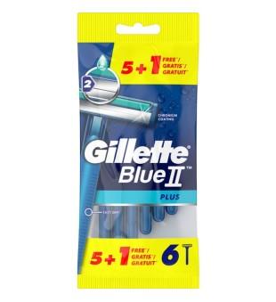 Gillette Blue II Plus Vienkartiniai skustuvai, 6vnt | inbeauty.lt