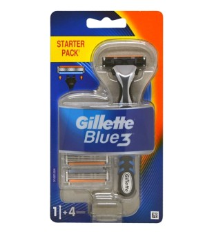 Gillette Blue3 Skustuvas, 1vnt + 4 galvutės | inbeauty.lt