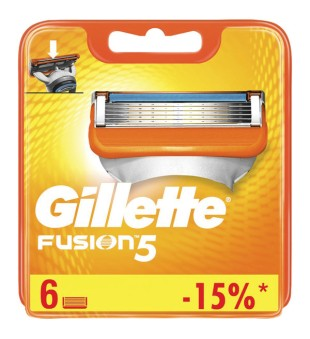 Gillette Fusion skustuvo galvutės, 6 vnt. | inbeauty.lt