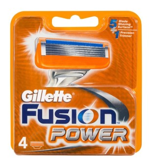 Gillette Fusion Power skustuvo galvutės, 4vnt. | inbeauty.lt