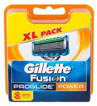 Gillette Fusion Proglide Power skustuvo galvutės, 8 vnt.   inbeauty.lt