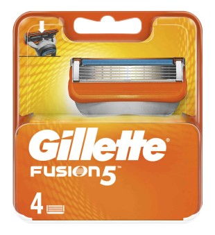 Gillette Fusion skustuvo galvutės, 4 vnt. | inbeauty.lt