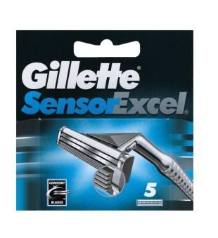 Gillette Sensor Excel skustuvo galvutės, 5 vnt. | inbeauty.lt