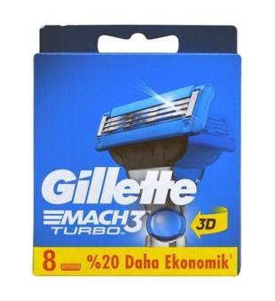 Gillette Mach3 Turbo skustuvo galvutės, 8 vnt. | inbeauty.lt