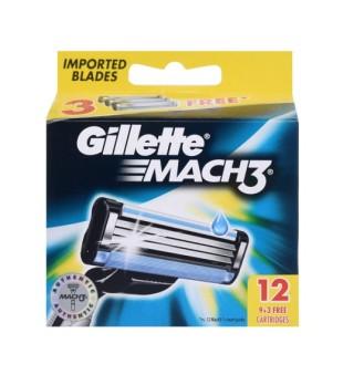Gillette Mach3 skustuvo galvutės, 12vnt. | inbeauty.lt