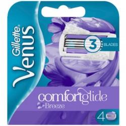Venus Breeze Comfort Glide Skustuvo galvutės, 4vnt.