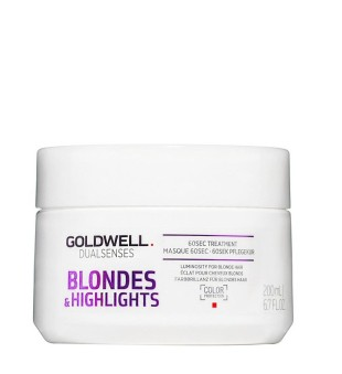Goldwell Dualsenses Blondes & Highlights 60sec Treatment Atkuriamoji kaukė, 200ml | inbeauty.lt