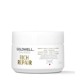 Goldwell Dualsenses Rich Repair 60sec Treatment Intensyvi atkuriamoji kaukė, 200ml | inbeauty.lt