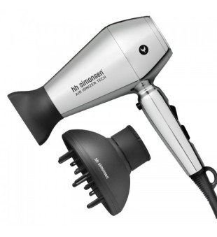 HH Simonsen Compact Dryer Moonlight Chrome Plaukų džiovintuvas, 1vnt | inbeauty.lt