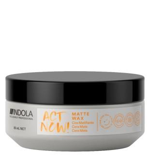 Indola Act Now Matte Wax Matinis plaukų formavimo vaškas, 85ml | inbeauty.lt