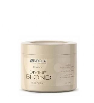 Indola Innova Divine Blond Treatment Mask Atkuriamoji kaukė šviesintiems plaukams, 200 ml   inbeauty.lt