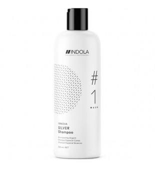 Indola Innova Silver Shampoo Šampūnas šviesiems plaukams, 300ml   inbeauty.lt